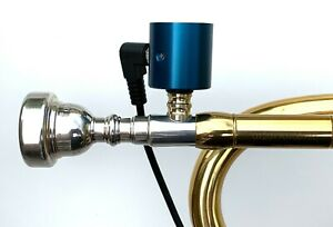 Trumpet-PiezoBarrel-P9-Pickup-microphone-Modified-Faxx-3C-Mouthpiece-amp-4m-Cable