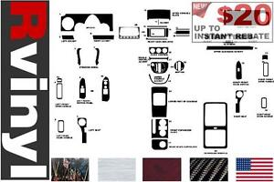 Black Rvinyl Rdash Dash Kit Decal Trim for Lincoln LS 2003-2006 Gloss