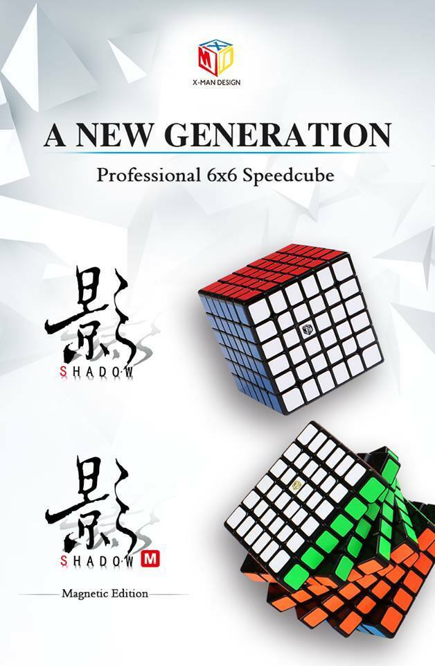 QiYi   Mo Fang Ge X-MAN Design 6x6x6 Shadow speedecube puzzle