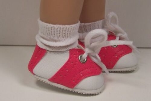 """Debs PINK Saddle Oxfords Doll Shoes For 10/"""" Ann Estelle Sophie Patsy DK Dark"""