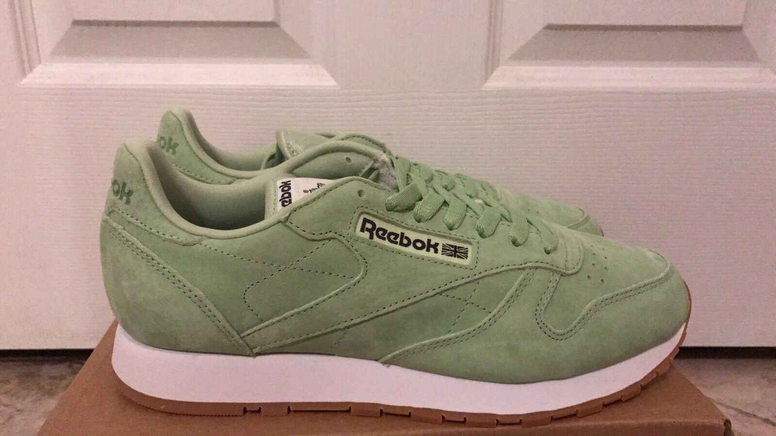 Reebok Classic Leather - Men's Aloe Green White Coal Gum BS8968