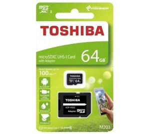 Micro Sd Karte Adapter.Details About 64gb Sdxc Micro Sd Karte Toshiba Class Klasse 10 Mikro Adapter Card Uhs I 64 Gb