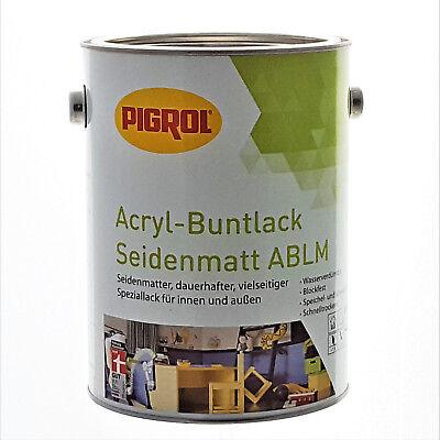 (11,20 €/l) 2,5 L Pigrol Acryl-buntlack Ral 7011 Eisengrau - Seidenmatt Schrecklicher Wert