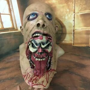 Latex-Costume-Halloween-Walking-Dead-Scary-Bloody-Zombie-Mask-Melting-Face-Adult