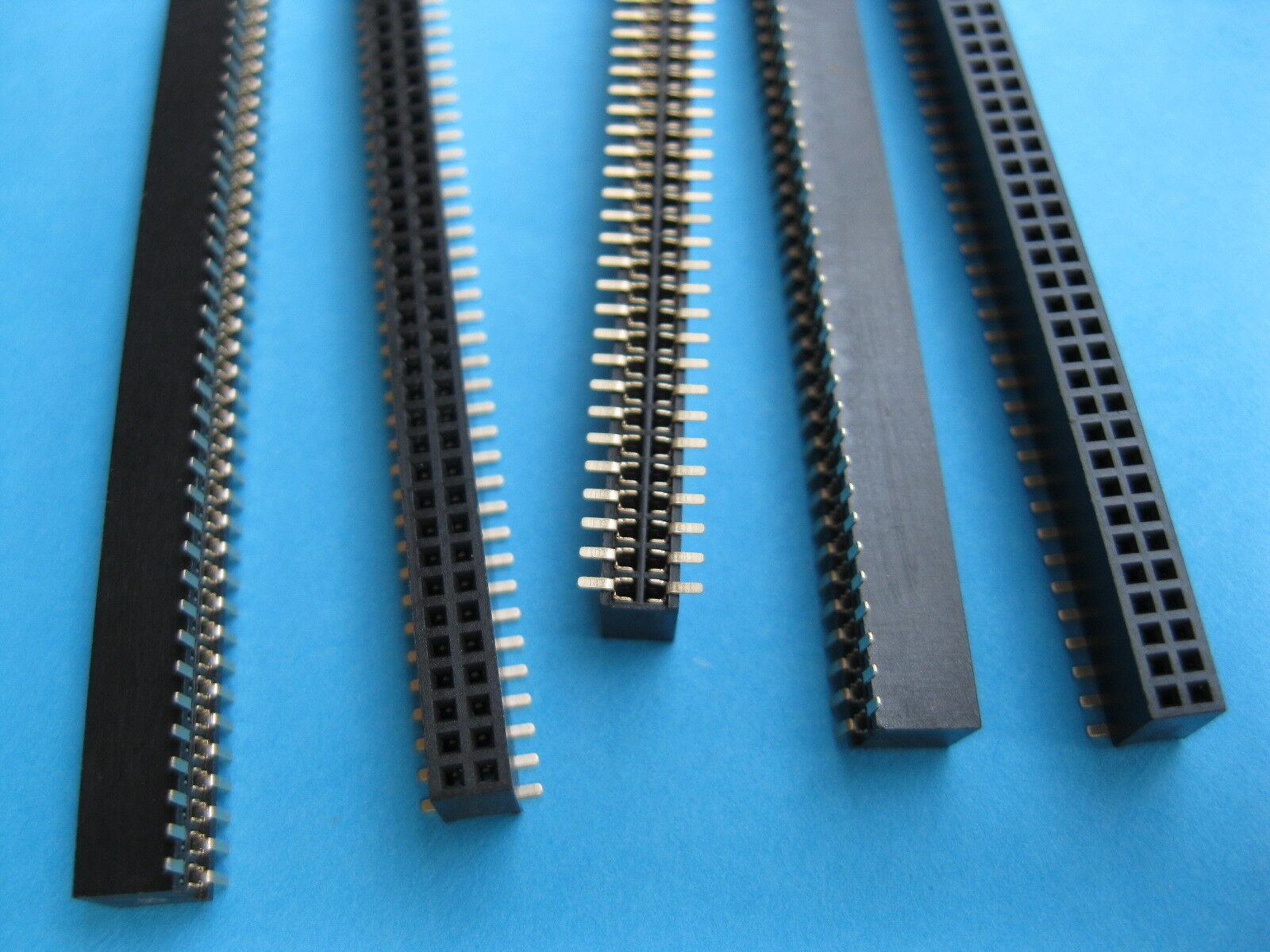 10pcs 40pin Strip Tin PCB Female IC Breakable Single Row Round Header Socket Uu