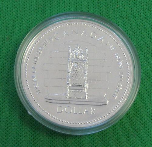 1977 Canada dollar silver Brilliant  Trone of Senate