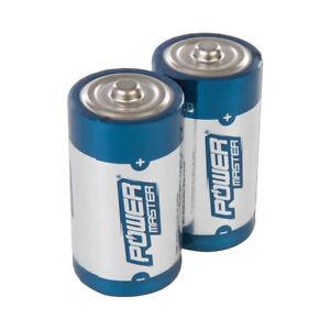 C-Type 1.5V Super Alkaline Battery LR14 MN1400 2pk Torches Radio Remote Toys New