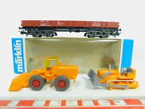 Bp65-0-5-Marklin-h0-ac-4474-baja-bordo-carro-retrocavadoras-bulldozer-DB-s-g-OVP