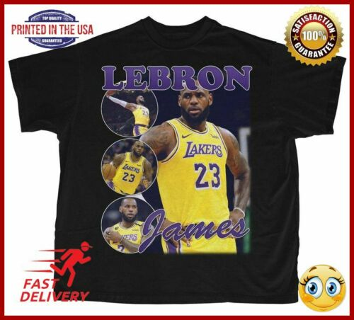 Lebron James Shirt  Bootleg Rap Tee  Shortsleeve Unisex Vintage Style Tshirt