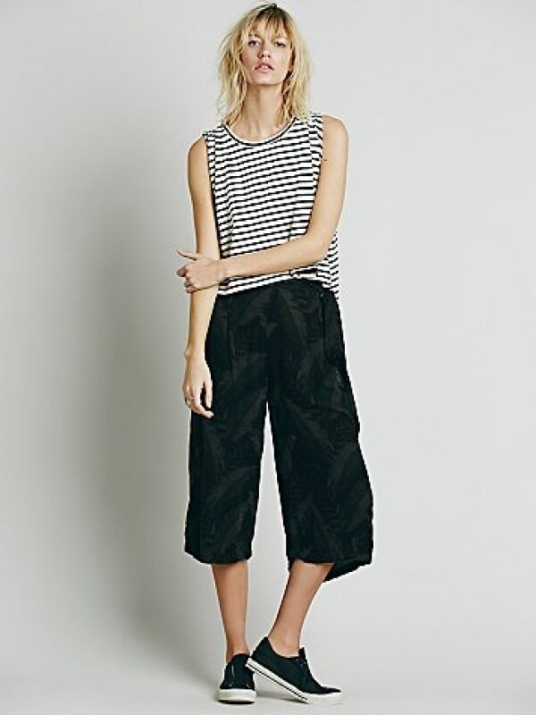 NWT Free People High-Rise Printed Culotte Wide Leg Pants Size XS