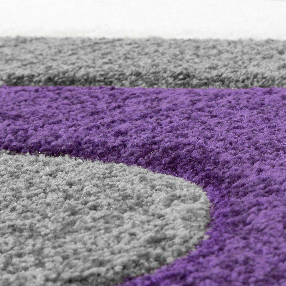 Luxe Chambre Violet Gris Rug Abstract Vague Design Salon Chambre Luxe À Coucher Tapis Soft Mat aaa8c7