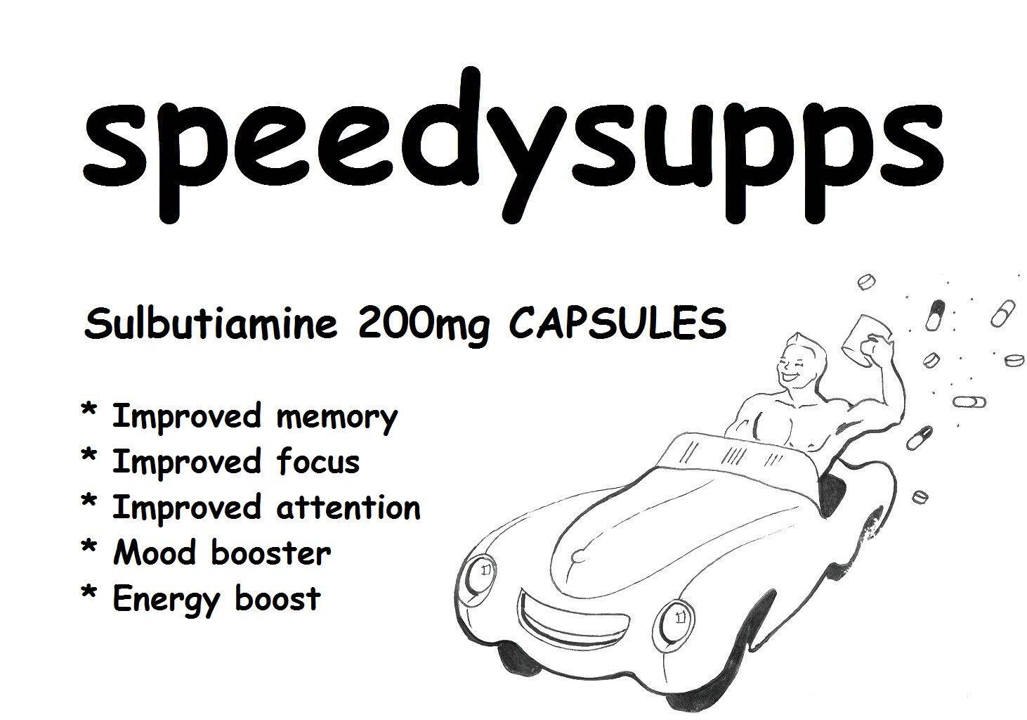 Sulbutiamine CAPSULES 200mg 60 vegetarian CAPSULES Sulbutiamine memory mood booster focus energy fe8102