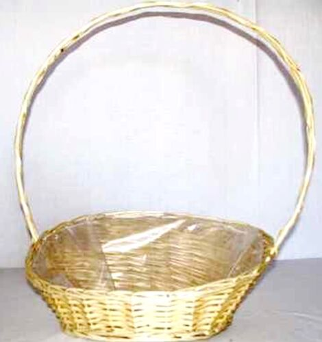 Präsentkorb Geschenkkorb groß mit Henkel ca 40 x 30 x 11 cm hell Korb