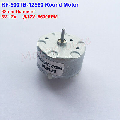 MABUCHI RF-500TB-12560 Micro DC Motor DC 5V-12V 5500RPM 32mm Diameter Toy Model