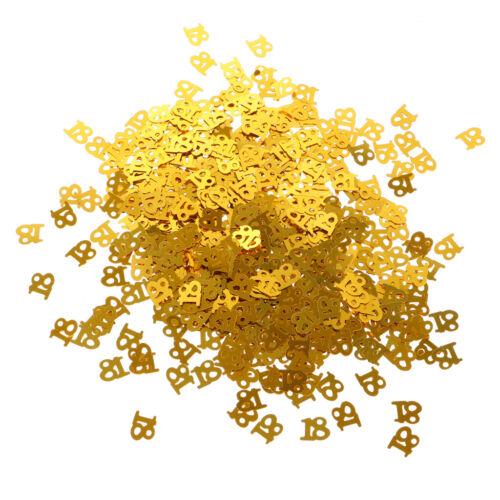 Glitter Golden Table Confetti Number Confetti Sprinkles Birthday Party Decor