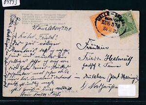 09493) Bahnpost Ovalstempel Halle-cassel Train 578, Carte 1920-afficher Le Titre D'origine