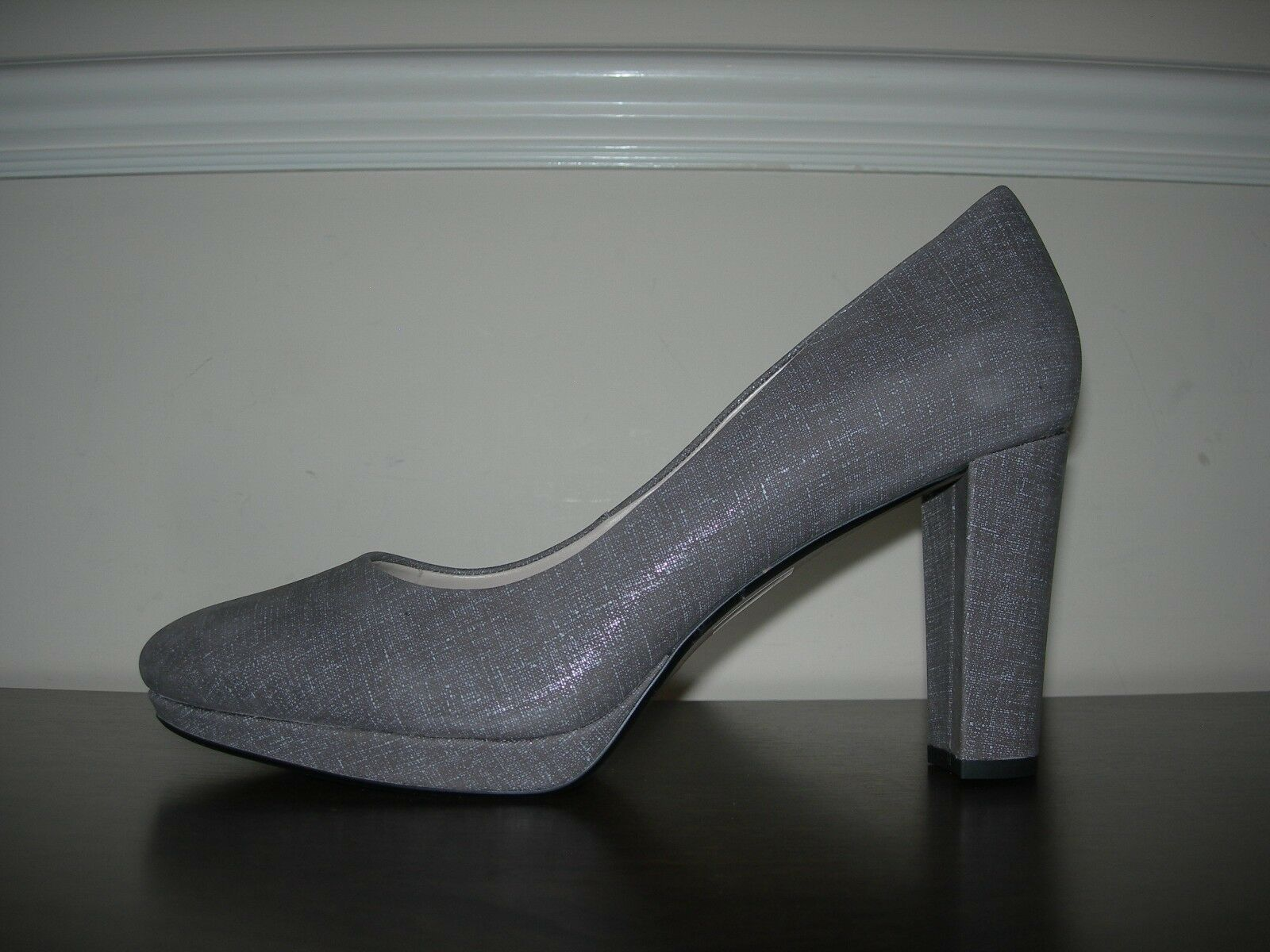 CLARKS NARRATIVE WOMEN'S COURT Schuhe HIGH HEELS GREY LEATHER EU 43 / UK 9 D