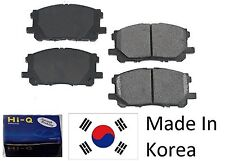 Front Ceramic Brake Pad Set With Shims For Toyota Echo 2001-2005