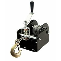 2000 Lb 1 Ton Capacity Worm Gear Hand Winch 40:1 Ratio Boats Trailers Pick Up