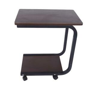 Wood Coffee Tray TV Snack Dinner Sofa Side End Stand Laptop Rolling Table Coffee