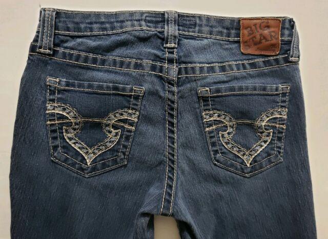 2486799a1ae Big Star Maddie Boot Cut Mid Rise Fit Womens Denim Blue Jeans Size 29 x 31