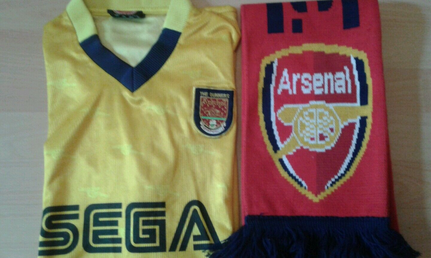 Vintage Arsenal London Trikot + Fanschal  | | | Billig ideal