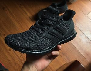 10885867d0acc Adidas Ultra Boost Ultraboost 4.0 Triple All Black BB6171 Size 10.5 ...