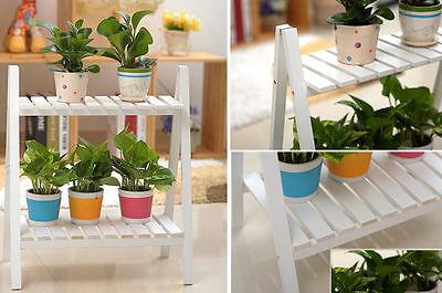 2 / 3 Tiers Plant flower Pot Herb Holder Stand Shelves Storage Garden furniture