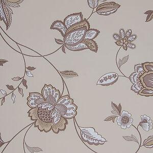 das bild wird geladen corali 4406 7 ausverkauf papier tapete beige braun - Tapete Beige Braun
