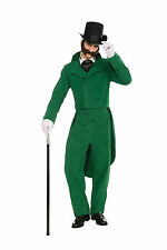 Caroling Gentleman Green Adult Costume Suit Dickens Victorian Caroller Std Xmas