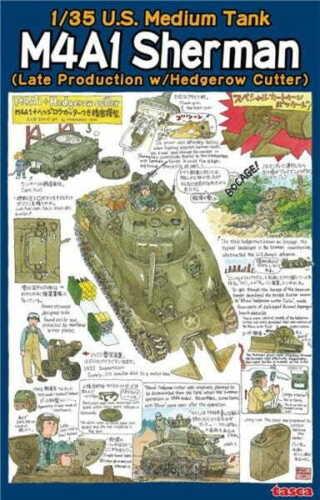 Asuka 35-022 1//35 US M4A1 Sherman Late w//Hedgerow
