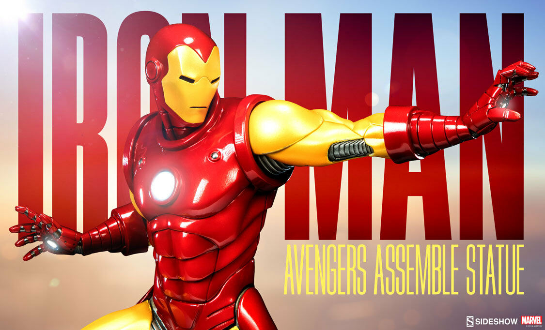 IRON MAN AVENGERS ASSEMBLE 1 5 STATUE SIDESHOW - Limited Edition  0788 1000