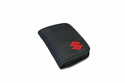 Genuine Suzuki Womens Mens Unisex Wallet / Credit Card Holder Full Zip Black