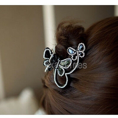 Elegant Jaw Clip Bling Rhinestones Bowknot Design Hair Clip 1pc