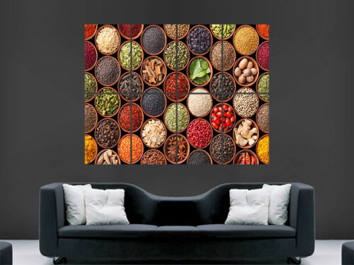 FOOD SPICES POSTER COOKING CHEF WALL ART PRINT