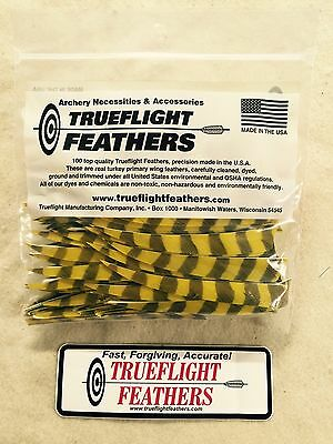Trueflight 5 inch Feathers Left Wing Shield 50 pack Red Barred