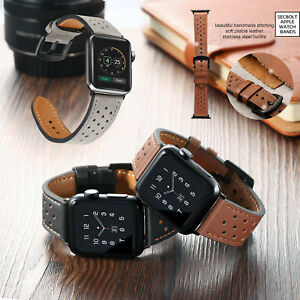 Breathable-Genuine-Leather-Wrist-Strap-Watch-Band-for-Apple-Watch-iWatch-4-3-2-1
