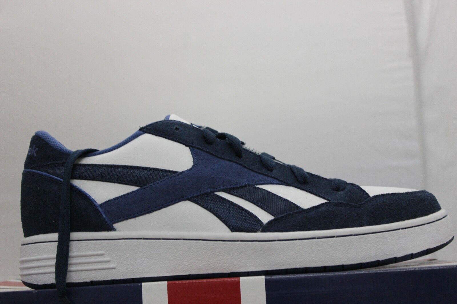 Reebok Cl Bb Zone Niedrig Tj Weiß-marine Brandneu Schuhe Schuhe Schuhe Klassiker Größe 12 9581d4
