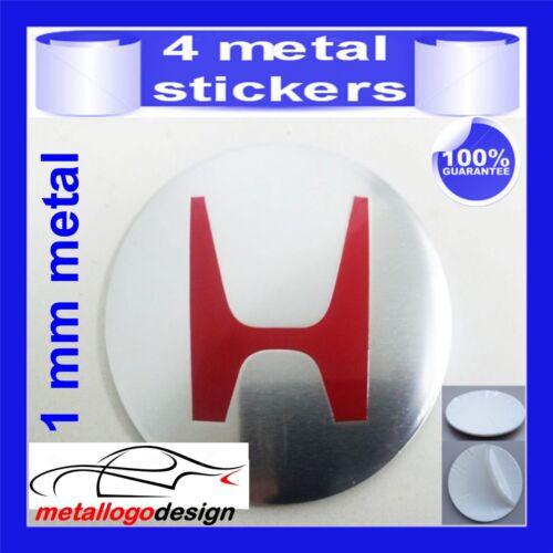 METAL STICKERS WHEELS CENTER CAPS Centro LLantas 4pcs HONDA