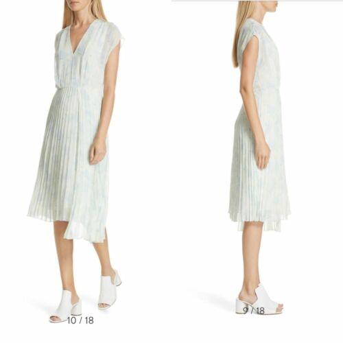 Lewit Pleated Chiffon Floral Dress Size 18