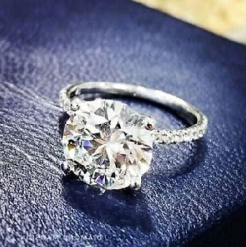 7.50Ct White Round Diamond Engagement Wedding Ring In Solid 925 Sterling Silver
