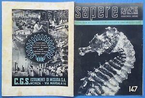 Ensoleillé Sapere Quindicinale 1941 N.147 Febbraio Foto Sommario 12/17 Jolie Et ColoréE