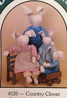1986 Sewing Pattern Primitive Bunny Rabbits & Clothes Pattern (3 Sizes)