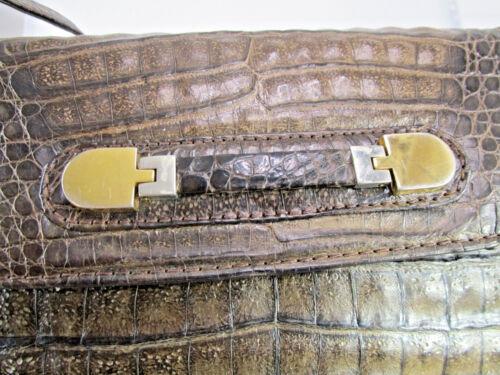 Aus Croco 07 Krokoledertasche Krokotasche Handtasche Vintage Echte Tk3v Ewga4