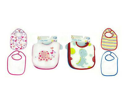 Baby Bibs Newborn Boys Girls Toddler Waterproof back 10 Pack White Plain