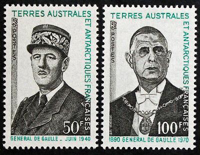 Yvert Und Tellier Nr.46 Et 47 N Radient Briefmarke Taaf Briefmarke cyn24