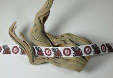 """BTY 7/8"""" White University Alabama Roll Tide Grosgrain Ribbon Lisa"""