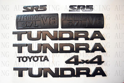 FOR 2007-2013 Toyota Tundra Matte Black Out Emblem Badges tailgate 5 Piece Kit