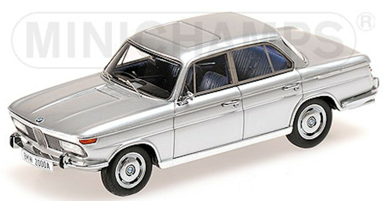 BMW 2000 A Limousine Nouveau,Neuf Classe Type 121 1966-72 1 43 Argent Métallique
