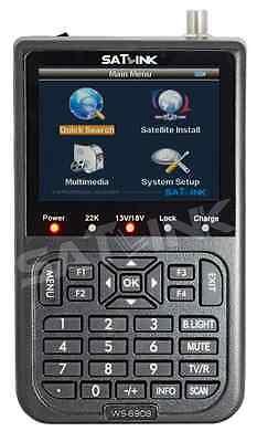 SATLINK WS 6908 DVB-S Zoom BlindScan FTA TFT 8,9cm Sat Messgerät Satfinder